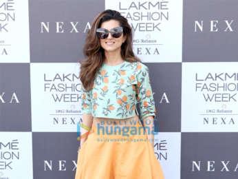 Mandira Bedi, Vidya Balan and others snapped at Lakme Fashion Week Summer Resort 2019 – Day 4