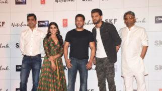 Notebook Movie Trailer Launch Salman Khan Zaheer Iqbal Pranutan Bahl Part 1