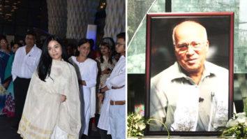Prayer Meet of Late Raj Kumar Barjatya with many Bollywood Celebs Amrita Rao