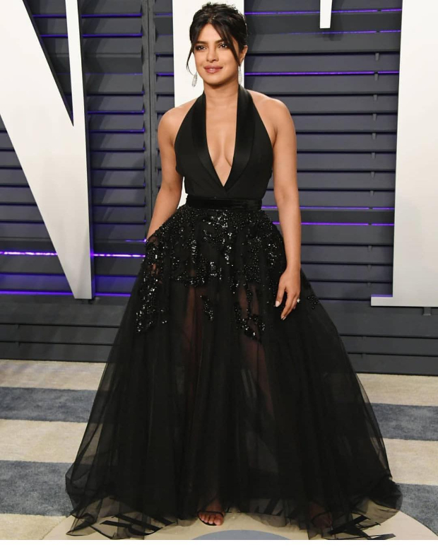 Priyanka Chopra in Elie Saab Haute Couture for Vanity Fair Oscar 2019 after party (1)