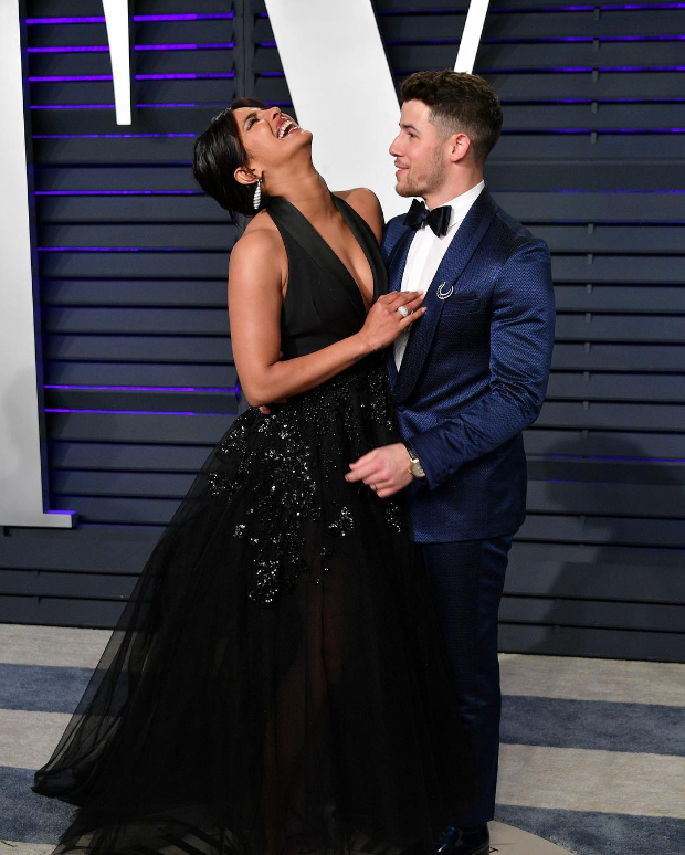 Priyanka Chopra in Elie Saab Haute Couture for Vanity Fair Oscar 2019 after party (5)