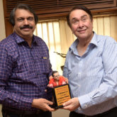 Randhir Kapoor bonds with author Chaitanya Padukone over his book R D Burmania