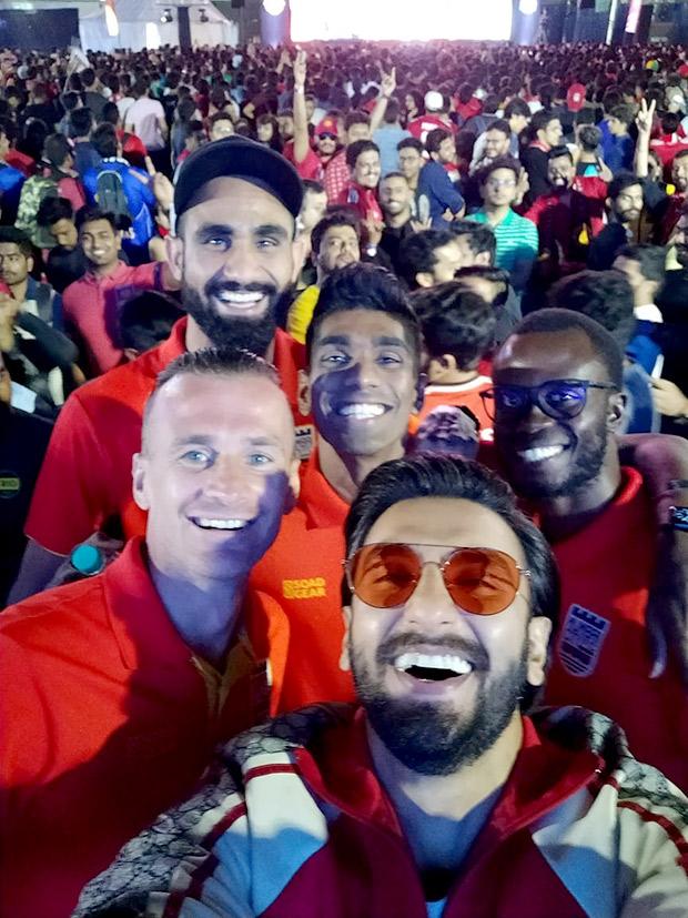 Ranveer Singh surprises fans at the Star Sports Select FC screening