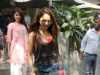 Rhea Chakraborty and Rakul Preet Singh spotted at Kitchen Garden in Bandra