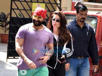 Saif Ali Khan and Kareena Kapoor Khan spotted at the gym in Bandra