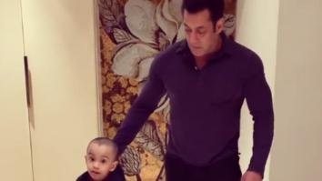 """Nana and Mamu time"" - Salman Khan's dad Salim Khan giving a ride to little Ahil Sharma is winning the internet"