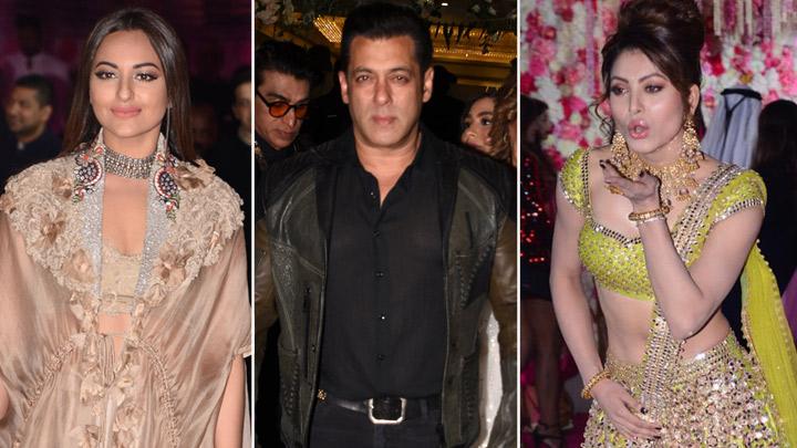 Salman Khan, Urvashi Rautela, Sonakshi Sinha and others at Azhar Morani's Wedding Reception