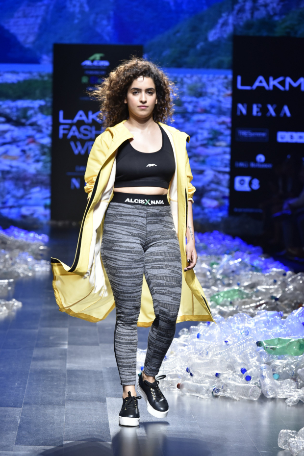 Sanya Malhotra for Narendra Kumar x Alcis Sports at LFW 2019 Summer_Resort (2)