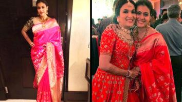 Saree Chic - Kajol in Coloroso Weaves saree for Soundarya Rajinikanth's wedding in Chennai (Featured)