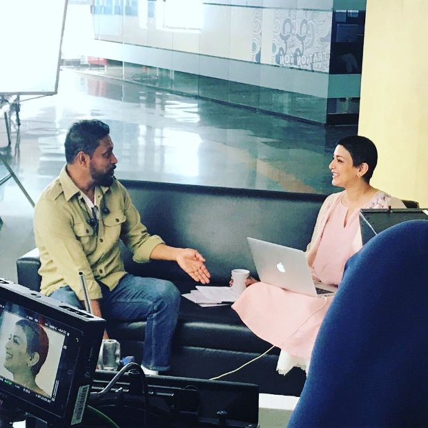 Shoojit Sircar shares a candid moment with Sonali Bendre during an ad shoot, calls her 'brave and absolutely charming'