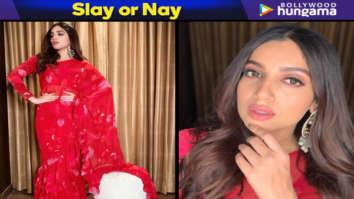 Slay or Nay - Bhumi Pednekar in Arpita Mehta concept ruffle saree for Sonchiriya promotions (Featured)
