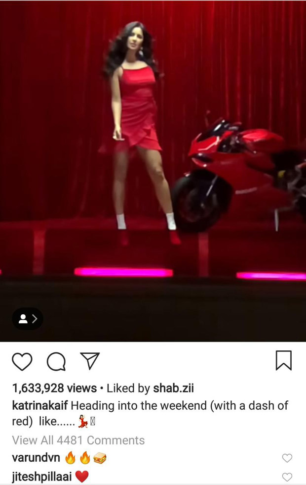 Katrina Kaif shares a RED HOT insta-video and Deepika Padukone just can't handle it!