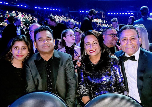 GRAMMY AWARDS - A R Rahman and daughter Raheema Rahman attend the prestigious award ceremony in Los Angeles