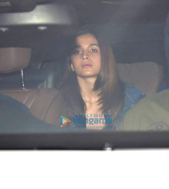 Alia Bhatt snapped at Karan Johar's residence in Bandra