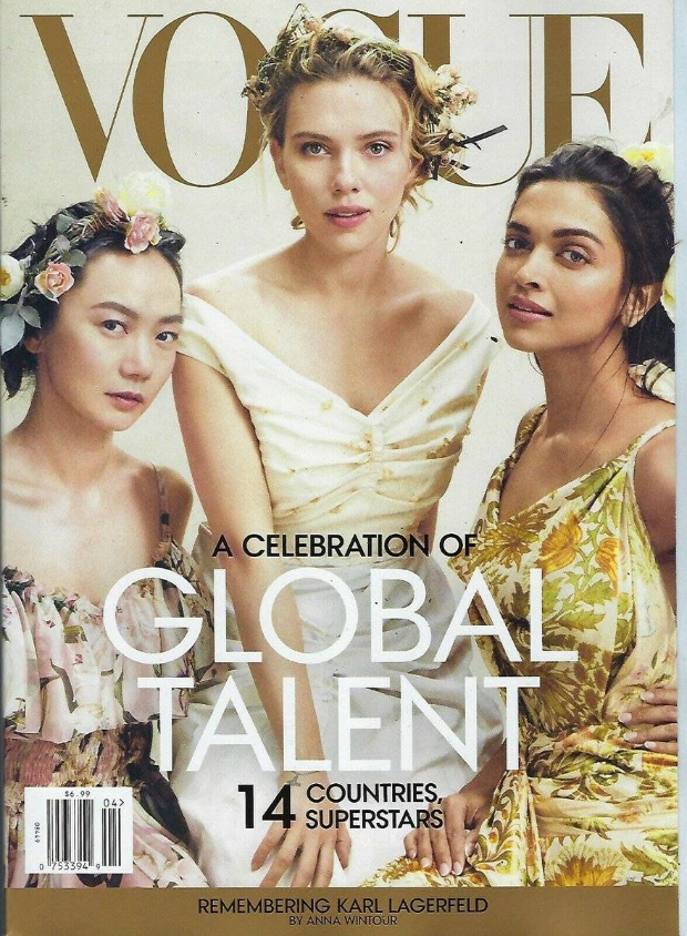 Deepika Padukone stuns as a boho girl in her first Vogue international cover with Avengers - Endgame star Scarlett Johansson and South Korean actress Doona Bae