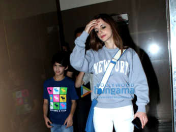 Hrithik Roshan, Sussanne Khan and family spotted in PVR, Juhu