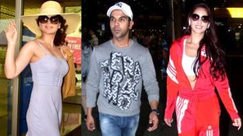 Kangana Ranaut, Nora Fatehi, Rajkummar Rao & others SPOTTED at Airport, Mumbai