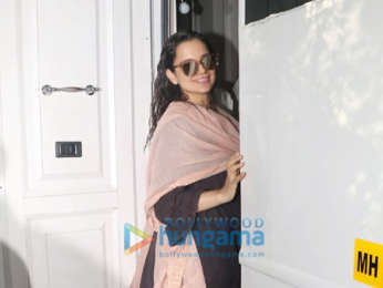 Kangana Ranaut spotted at an ad shoot in Bandra