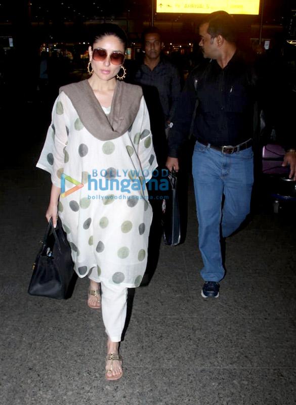 Kareena Kapoor Khan and Boney Kapoor snapped at the airport (3)