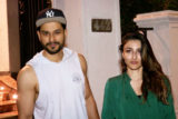 SPOTTED Soha Ali Khan with husband Kunal Khemu at Ministry cave, Khar