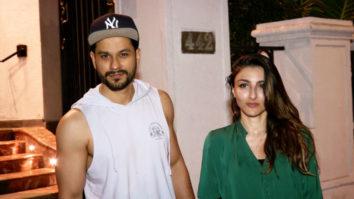 SPOTTED Soha Ali Khan with husband Kunal Khemu at Ministry cave, Khar