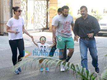 Saif Ali Khan, Kareena Kapoor Khan and Taimur Ali Khan snapped in Bandra