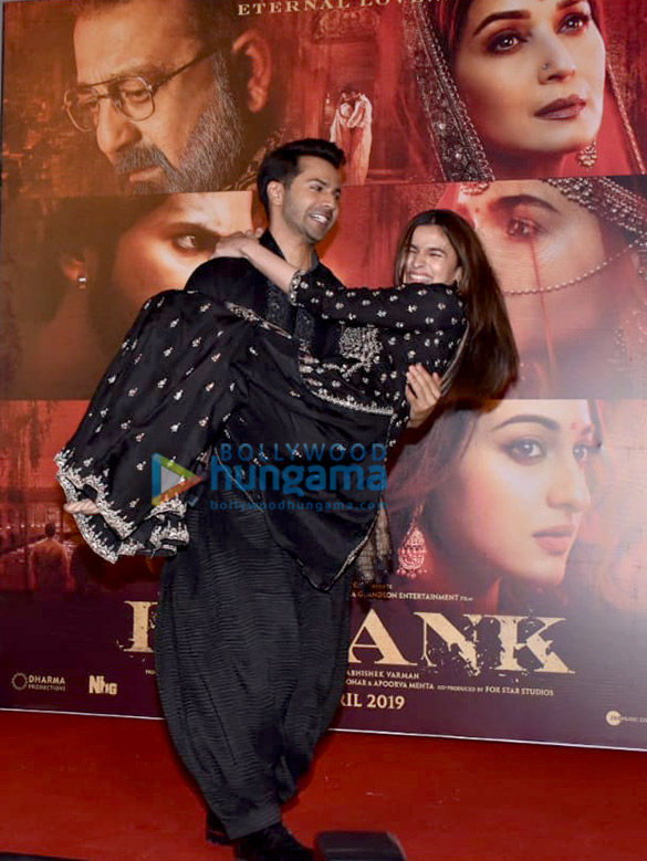Varun Dhawan And Alia Bhatt Snapped At The Song Launch Of First Class From Kalank Parties Events Bollywood Hungama