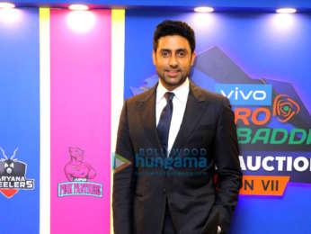 Abhishek Bachchan attend the VIVO Pro Kabaddi Auctions Season VII