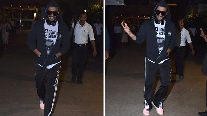 DASHING Ranveer Singh SPOTTED at Otters Club, Bandra