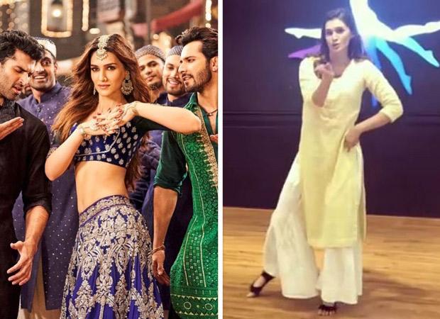 Kriti Sanon enjoyed dancing to 'Aira Gaira' in Kalank with Varun Dhawan and Aditya Roy Kapur, shares prep videos of the same
