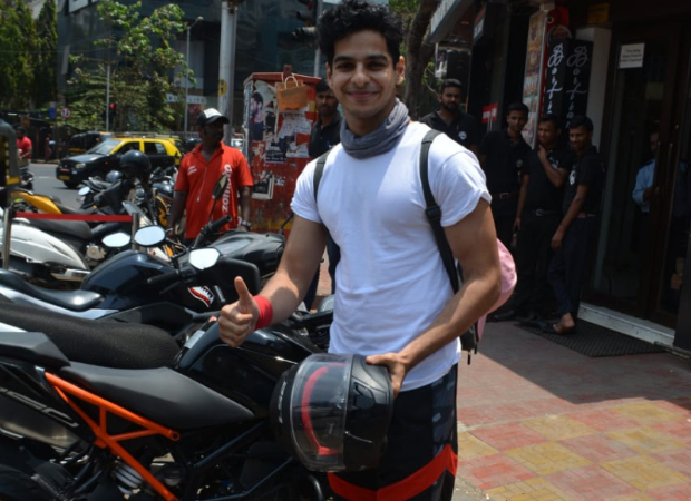 Ishaan Khatter pays fine for parking his bike in no parking zone