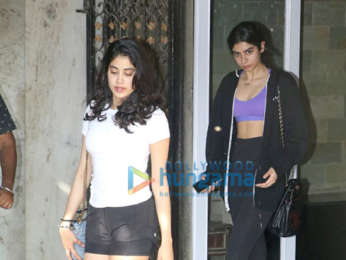 Janhvi Kapoor and Khushi Kapoor spotted at the gym