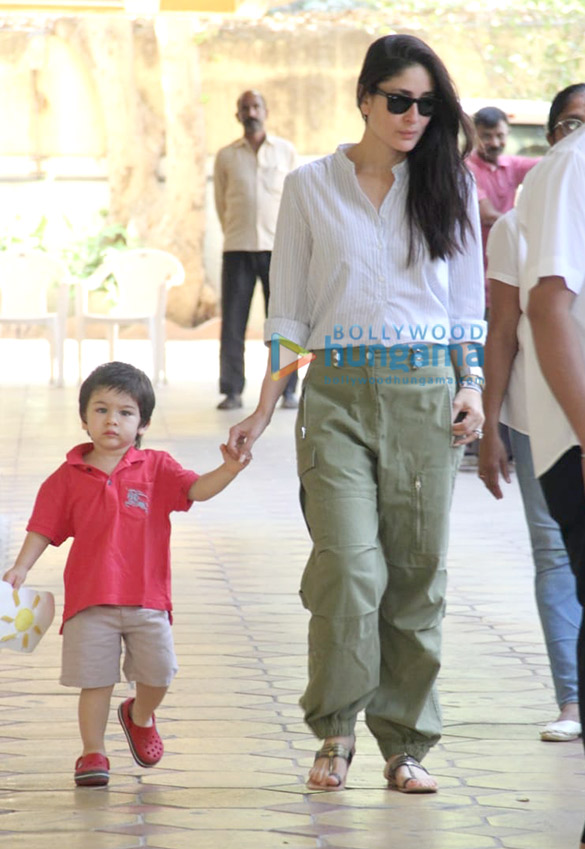 Kareena Kapoor Khan and Taimur Ali Khan snapped outside a school in Bandra