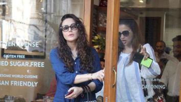 Preity Zinta snapped at a cafe in Mumbai