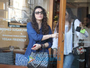 Preity Zinta snapped at a cafe in Mumbai