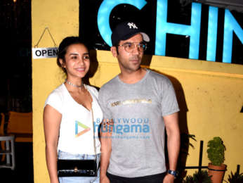 Rajkummar Rao and Patralekha spotted at Chin Chin Chu at Juhu