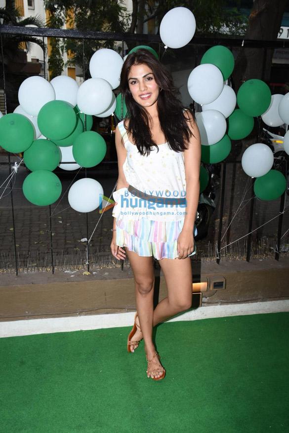 Rhea Chakraborty snapped at 50th Starbucks launch at Bandra, Mumbai (3)