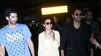 SPOTTED Kalank Team at Mumbai Airport