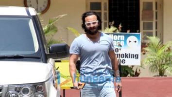 Saif Ali Khan, Janhvi Kapoor and Georgia Andriani spotted at the gym