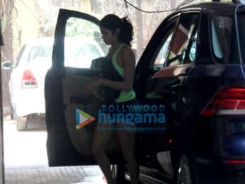 Saif Ali Khan, Janhvi Kapoor and Georgia Andriani spotted at the gym