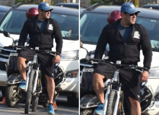 fe412f758 Salman Khan goes cycling on the streets of Mumbai, leaves the fans  surprised - Bollywood Hungama