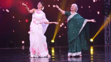 Shilpa Shetty grooves with Waheeda Rahman on 'Aaj Phir Jeene Ki Tamanna Hai'