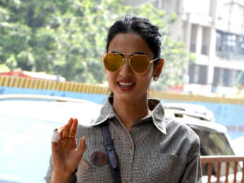 Sonal Chauhan snapped outside Skyfire producer Shabina Khan's office