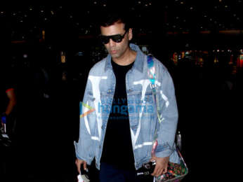 Sonam Kapoor Ahuja, Anand Ahuja and Karan Johar snapped at the airport
