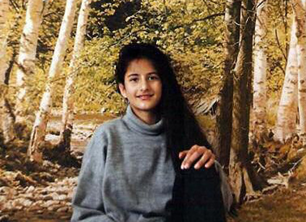 Throwback Thursday This picture of Katrina Kaif posing in front of a wallpaper, is every 90s kid ever!