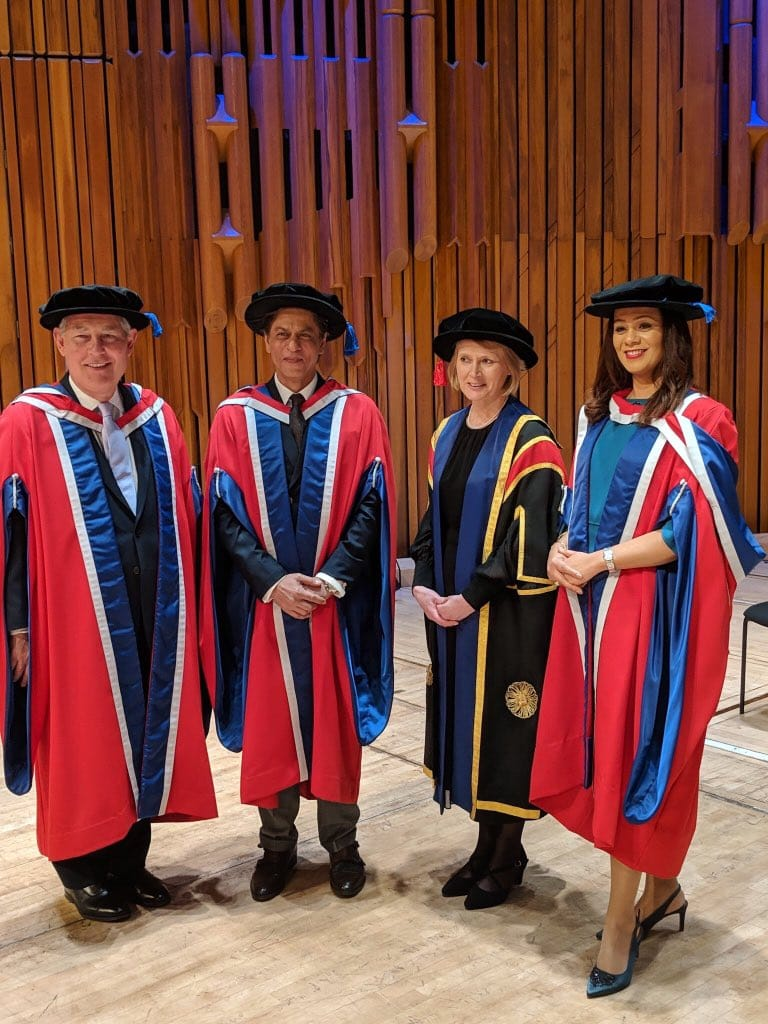 """I believe that charity should be done in silence and with dignity"" - Shah Rukh Khan felicitated with an Honorary Doctorate by The University of Law in London"
