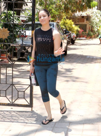 Yami Gautam spotted at a yoga class in Bandra