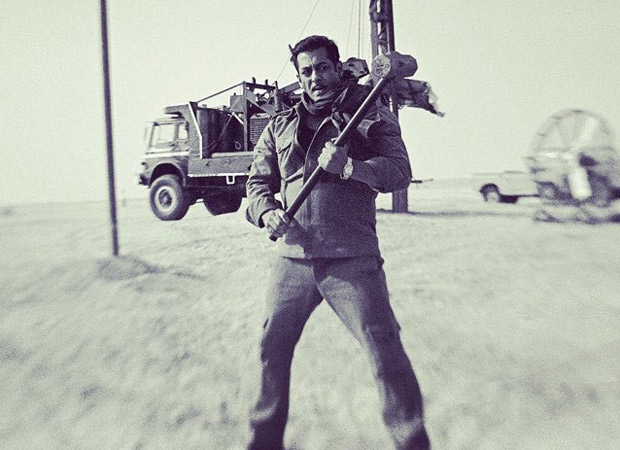 Bharat Salman Khan looks dapper as he poses at an oil field in the Middle East