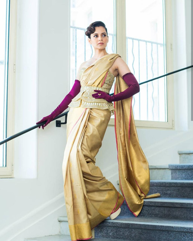 Cannes 2019 Day 1: Kangana Ranaut creates a STORM with a stunning custom saree and corset look