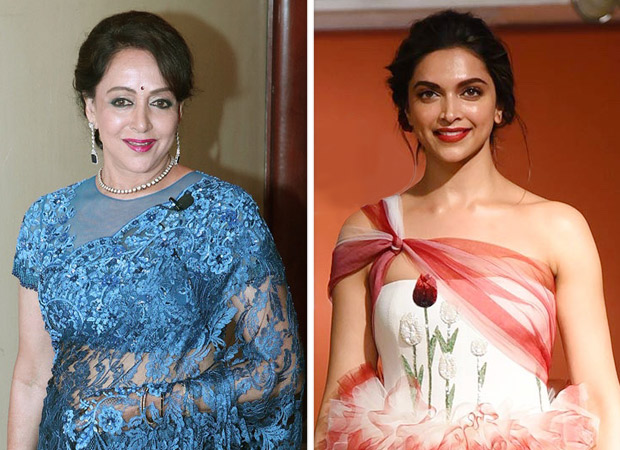 Hema Malini hands over her crown to Deepika Padukone